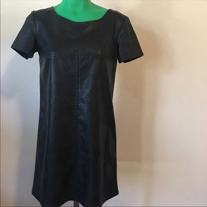 Faux leather shift dress size xs
